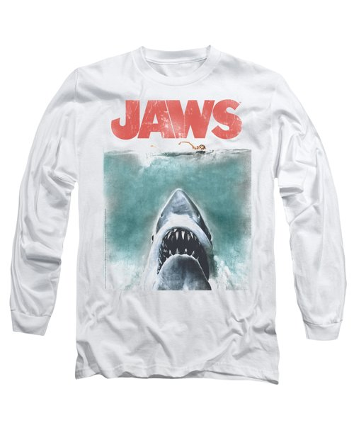 Jaws - Vintage Poster Long Sleeve T-Shirt by Brand A