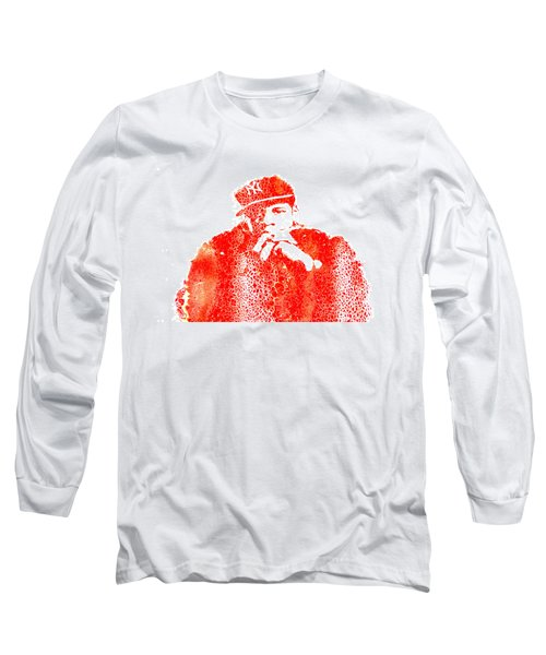 Jay Z Vibes Long Sleeve T-Shirt by Brian Reaves
