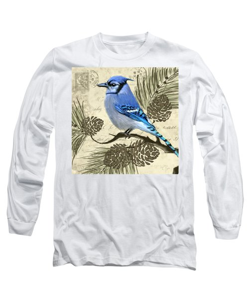 Jeweled Blue Long Sleeve T-Shirt by Lourry Legarde
