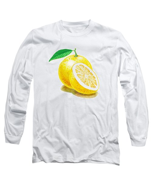 Juicy Grapefruit Long Sleeve T-Shirt by Irina Sztukowski