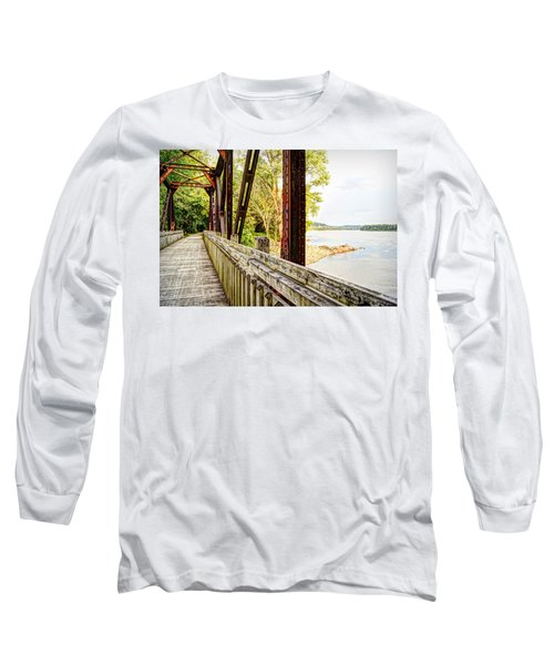 Katy Trail Near Coopers Landing Long Sleeve T-Shirt by Cricket Hackmann