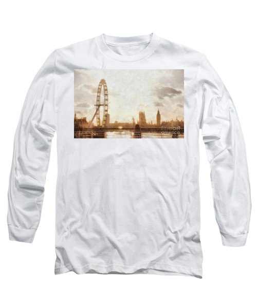 London Skyline At Dusk 01 Long Sleeve T-Shirt by Pixel  Chimp