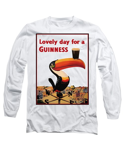Lovely Day For A Guinness Long Sleeve T-Shirt by Nomad Art