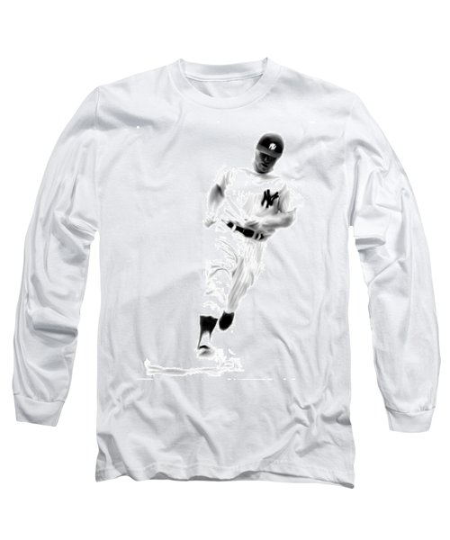 Mantles Gate  Mickey Mantle Long Sleeve T-Shirt by Iconic Images Art Gallery David Pucciarelli