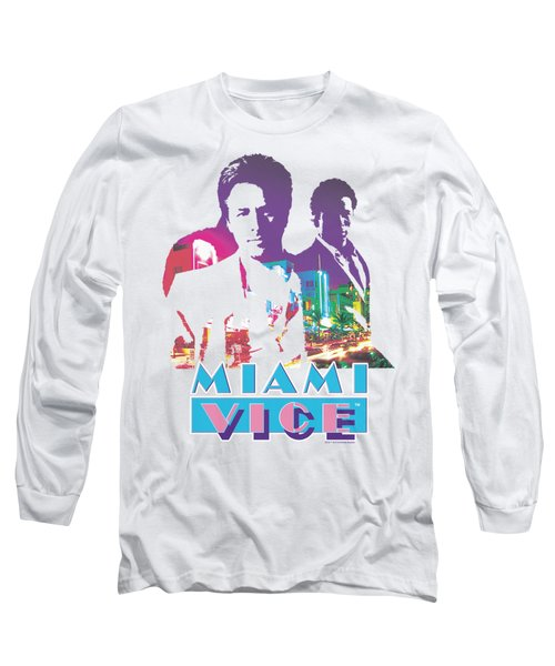 Miami Vice - Crockett And Tubbs Long Sleeve T-Shirt by Brand A