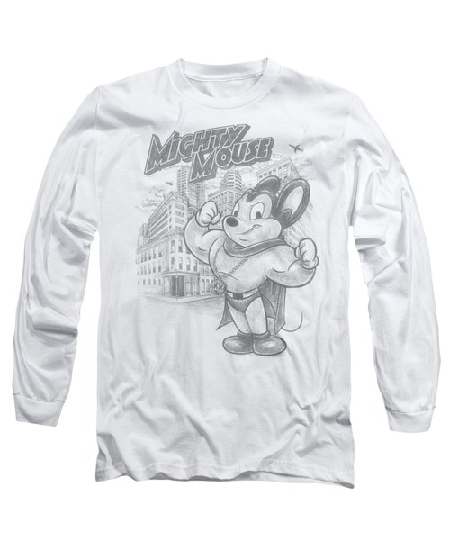Mighty Mouse - Protect And Serve Long Sleeve T-Shirt by Brand A