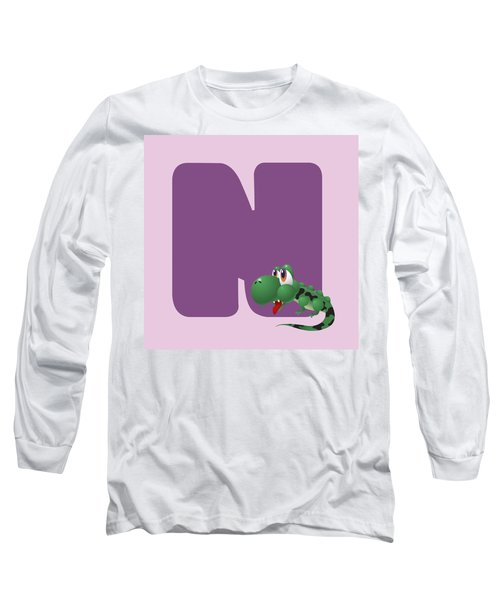 N Long Sleeve T-Shirt by Gina Dsgn