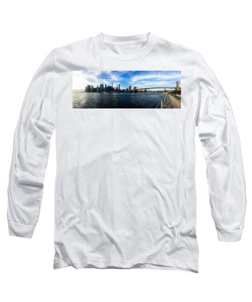 New York Skyline - Color Long Sleeve T-Shirt by Nicklas Gustafsson