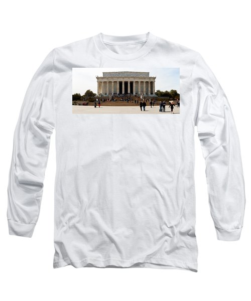 People At Lincoln Memorial, The Mall Long Sleeve T-Shirt by Panoramic Images