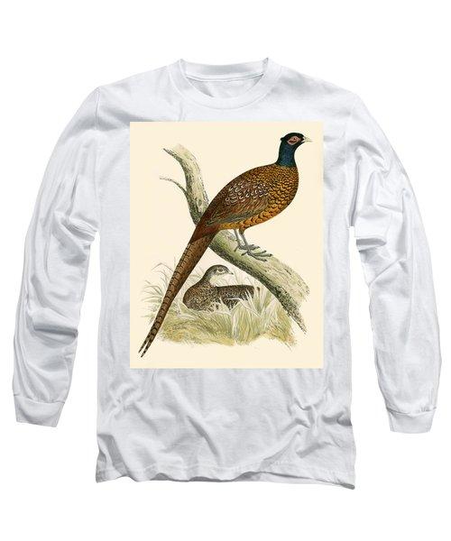 Pheasant Long Sleeve T-Shirt by Beverley R Morris