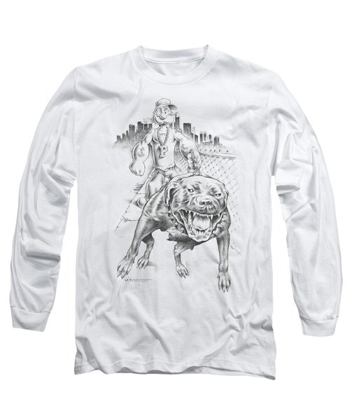 Popeye - Walking The Dog Long Sleeve T-Shirt by Brand A