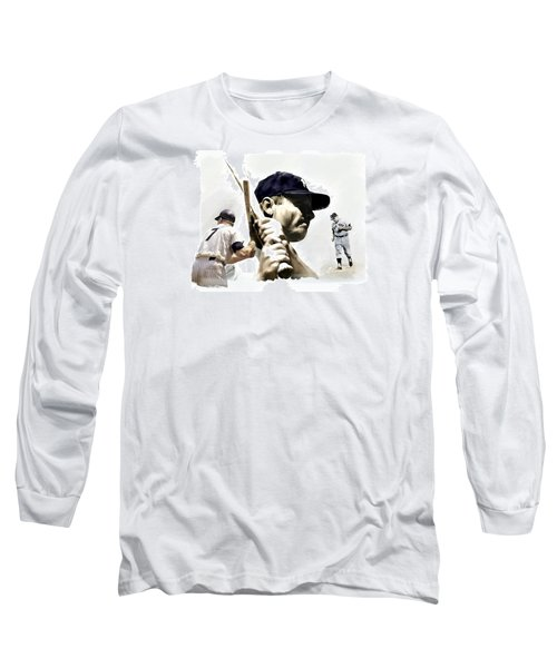 Quality Of Greatness Mickey Mantle Long Sleeve T-Shirt by Iconic Images Art Gallery David Pucciarelli