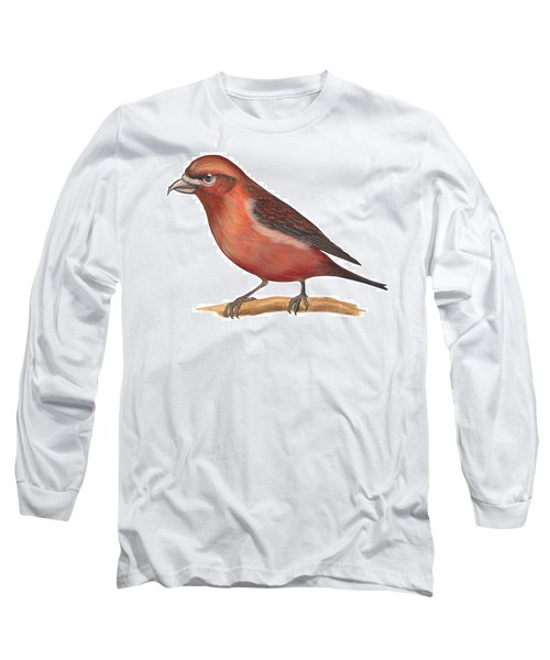 Red Crossbill Long Sleeve T-Shirt by Anonymous