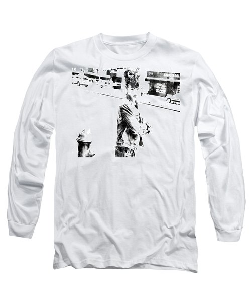 Rihanna Hanging Out Long Sleeve T-Shirt by Brian Reaves