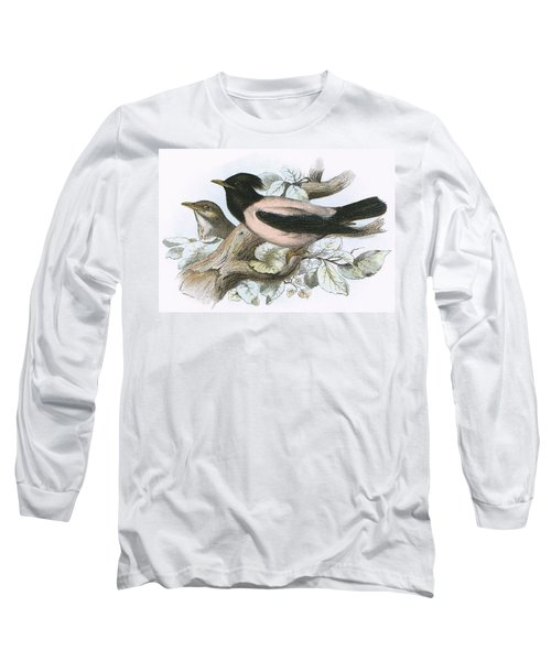 Rose Coloured Starling Long Sleeve T-Shirt by English School