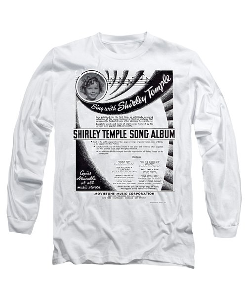 Shirley Temple Song Album Long Sleeve T-Shirt by Mel Thompson