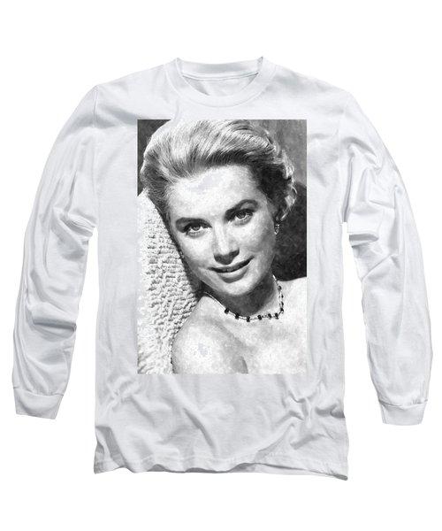 Simply Stunning Grace Kelly Long Sleeve T-Shirt by Florian Rodarte