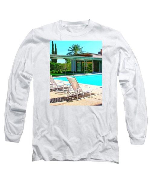 Sinatra Pool Palm Springs Long Sleeve T-Shirt by William Dey