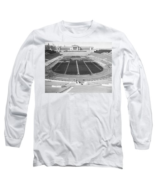 Soldier's Field Boxing Match Long Sleeve T-Shirt by Underwood Archives