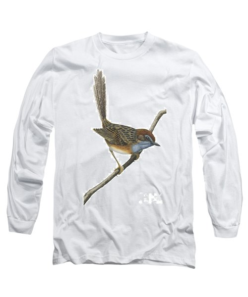 Southern Emu Wren Long Sleeve T-Shirt by Anonymous