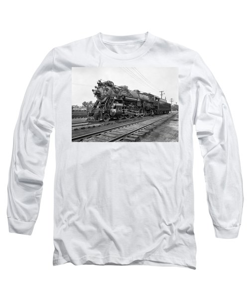 Steam Locomotive Crescent Limited C. 1927 Long Sleeve T-Shirt by Daniel Hagerman