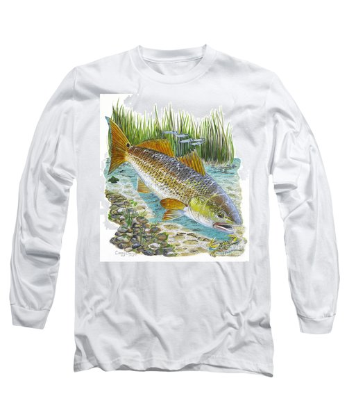 Tailing Red Long Sleeve T-Shirt by Carey Chen