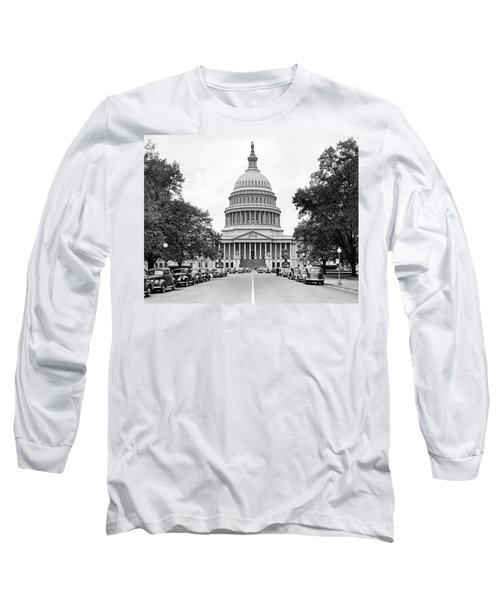 The Capitol Building Long Sleeve T-Shirt by Underwood Archives