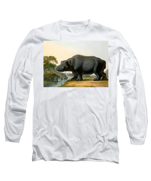 The Hippopotamus, 1804 Long Sleeve T-Shirt by Samuel Daniell
