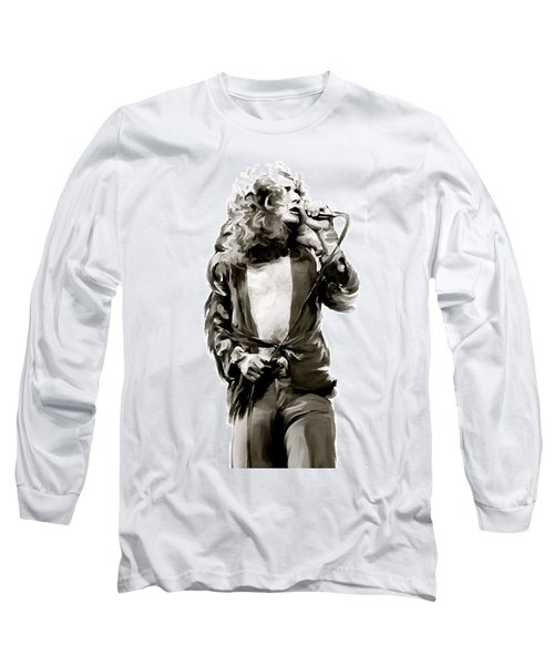 The Lion  Robert Plant Long Sleeve T-Shirt by Iconic Images Art Gallery David Pucciarelli