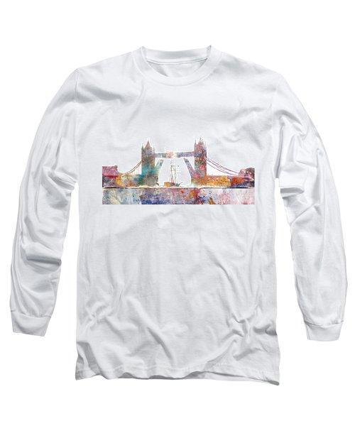 Tower Bridge Colorsplash Long Sleeve T-Shirt by Aimee Stewart