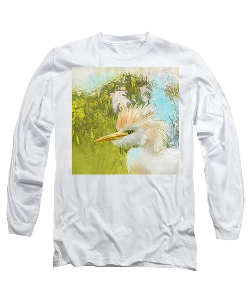 White Kingfisher Long Sleeve T-Shirt by Catf