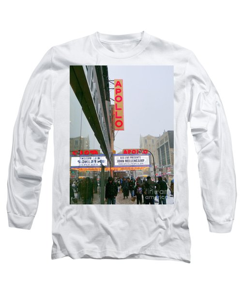 Wintry Day At The Apollo Long Sleeve T-Shirt by Ed Weidman