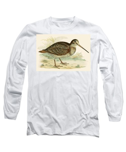 Woodcock Long Sleeve T-Shirt by Beverley R Morris