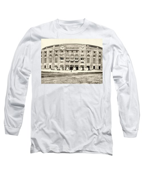 Yankee Stadium Long Sleeve T-Shirt by Bill Cannon