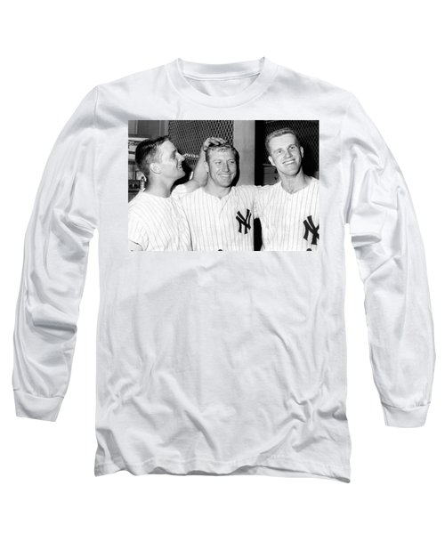 Yankees Celebrate Victory Long Sleeve T-Shirt by Underwood Archives