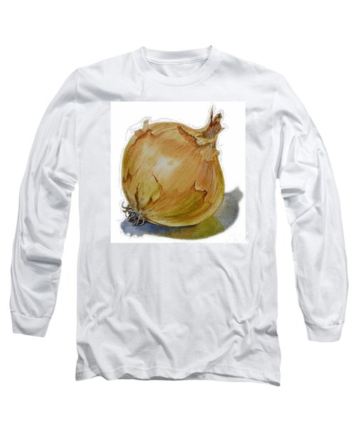 Yellow Onion Long Sleeve T-Shirt by Irina Sztukowski