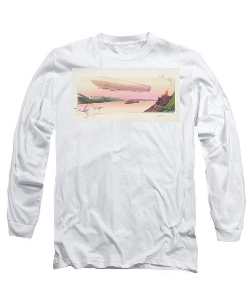 Zeppelin, Published Paris, 1914 Long Sleeve T-Shirt by Ernest Montaut