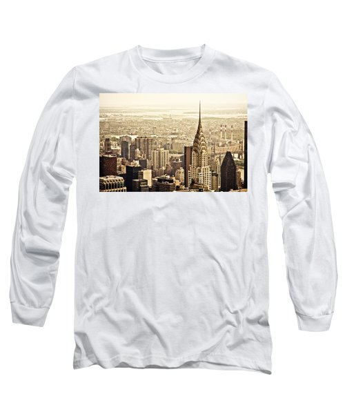 New York City  Long Sleeve T-Shirt by Vivienne Gucwa