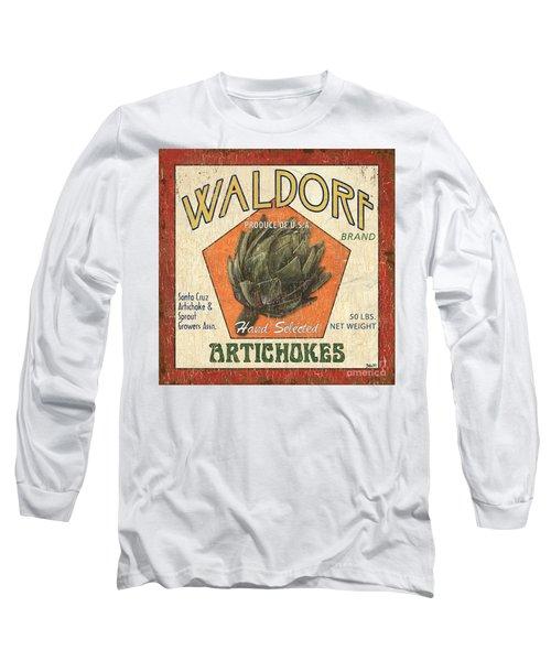 Americana Veggies Long Sleeve T-Shirt by Debbie DeWitt