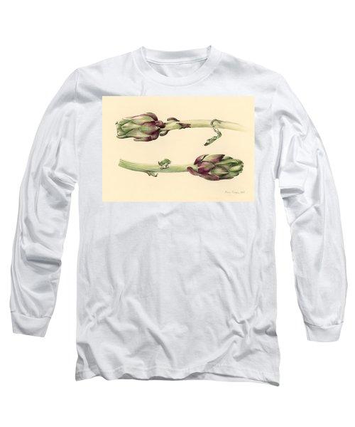 Artichokes Long Sleeve T-Shirt by Alison Cooper