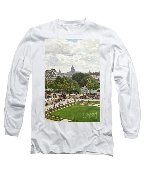 Garden Of The Princess Long Sleeve T-Shirt by Claude Monet