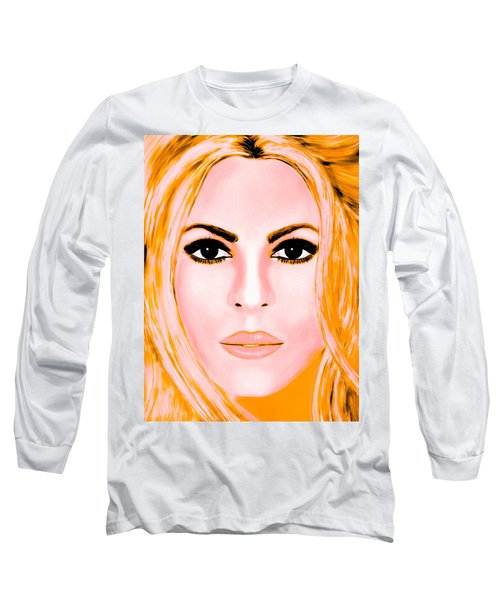 Gold Shakira Long Sleeve T-Shirt by Mathieu Lalonde