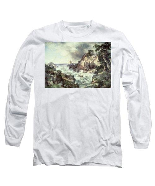 Point Lobos At Monterey In California Long Sleeve T-Shirt by Thomas Moran