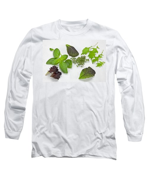 Salad Greens And Spices Long Sleeve T-Shirt by Joana Kruse