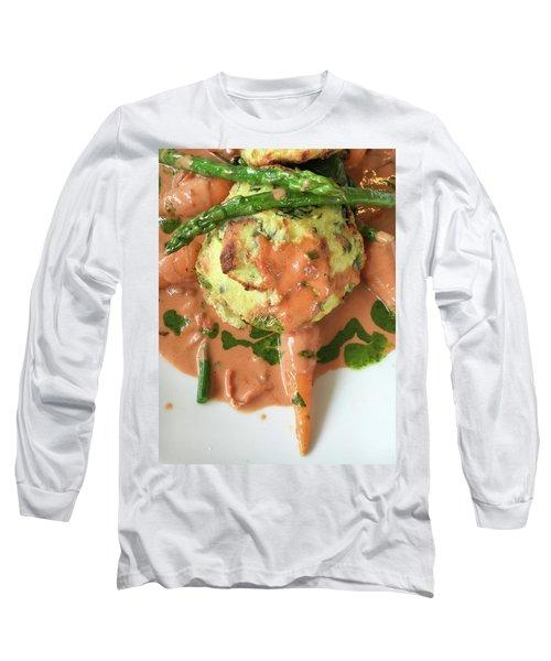 Asparagus Dish Long Sleeve T-Shirt by Tom Gowanlock
