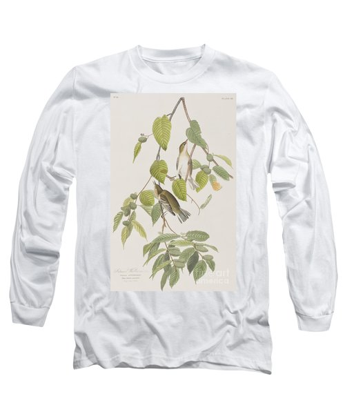 Autumnal Warbler Long Sleeve T-Shirt by John James Audubon