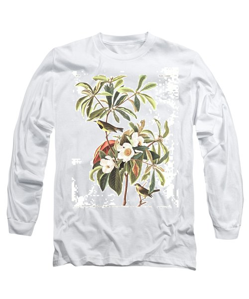Bachman's Warbler  Long Sleeve T-Shirt by John James Audubon