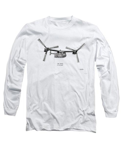 Bell Boeing Cv-22b Osprey Long Sleeve T-Shirt by Arthur Eggers