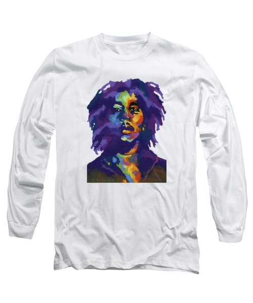 Bob Marley-for T-shirt Long Sleeve T-Shirt by Stephen Anderson