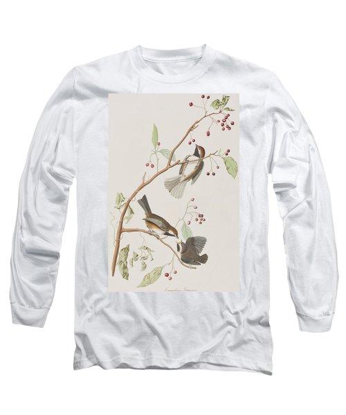 Canadian Titmouse Long Sleeve T-Shirt by John James Audubon